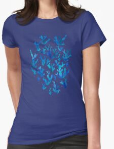 Desert night with cactus Womens Fitted T-Shirt