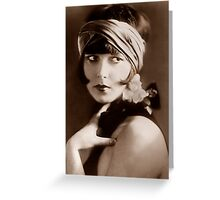 Flapper Girl Pouting Greeting Card