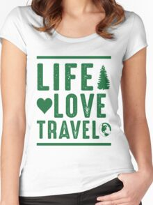 Life - Love - Travel Women's Fitted Scoop T-Shirt
