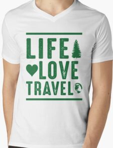 Life - Love - Travel Mens V-Neck T-Shirt