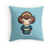 The Blue Geisha Throw Pillow