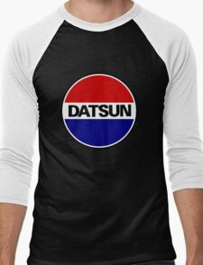 datsun emblem old vintage Men's Baseball ¾ T-Shirt