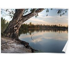 Murray River Sunset Poster