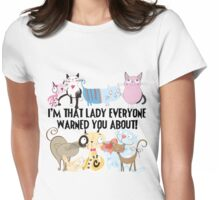 Funny Cat Lady Cat Lover Womens Fitted T-Shirt