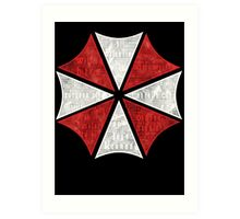 Resident Evil Umbrella Typography Art Print