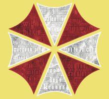 Resident Evil Umbrella Typography One Piece - Short Sleeve