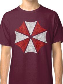 Resident Evil Umbrella Typography Classic T-Shirt