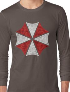 Resident Evil Umbrella Typography Long Sleeve T-Shirt