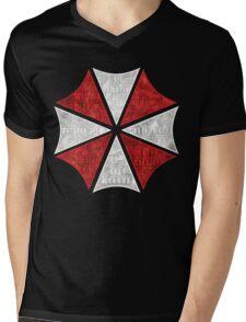 Resident Evil Umbrella Typography Mens V-Neck T-Shirt