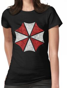 Resident Evil Umbrella Typography Womens Fitted T-Shirt
