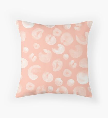 Bubbles on Peach Throw Pillow
