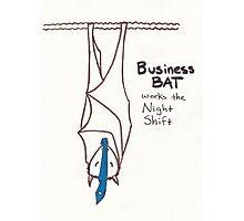 Business Bat Photographic Print