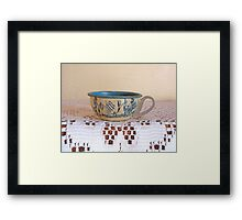 Vintage Toy Teacup Framed Print