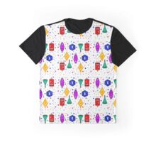 Monster-Robot Pattern Graphic T-Shirt