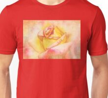 Rosebud in Pink and Yellow Unisex T-Shirt