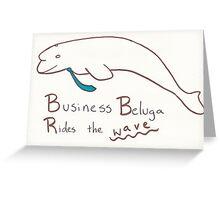 Business Beluga Greeting Card