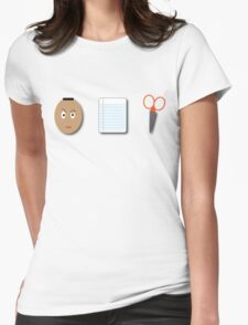 The Rock, Paper, scissors Womens Fitted T-Shirt