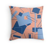 60's Style in Fashion Colors Var 2 Throw Pillow