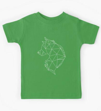 Geometric Wolf Kids Tee