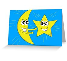 Moon and Star Greeting Card