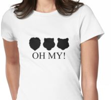 Lions, Tigers and Bears! Oh My! Womens Fitted T-Shirt