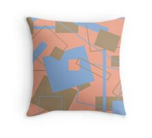 60's Style in Fashion Colors Var 3 Throw Pillow