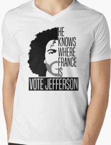 Vote For Jefferson Mens V-Neck T-Shirt