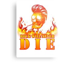 Rock will never die Metal Print