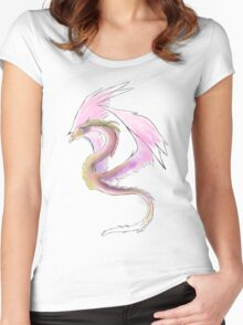 Pink Fairy Dragon Women's Fitted Scoop T-Shirt
