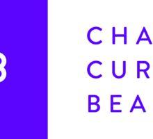 Blue + White Rectangle Logo Sticker