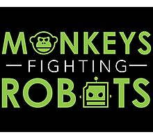 Monkeys Fighting Robots Original  Photographic Print
