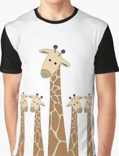 GIRAFFE PORTRAITS Graphic T-Shirt