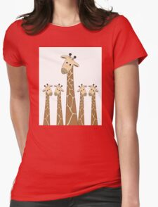 GIRAFFE PORTRAITS Womens Fitted T-Shirt
