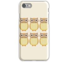 Sextuplet Owls iPhone Case/Skin