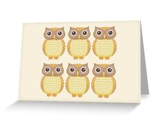 Sextuplet Owls Greeting Card