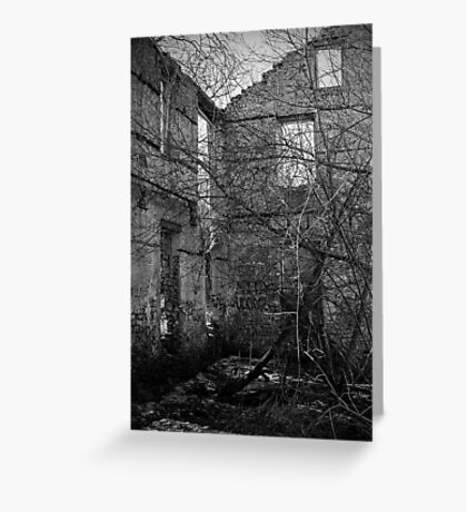 Interior, Abandoned Building - Elora, Ontario Greeting Card