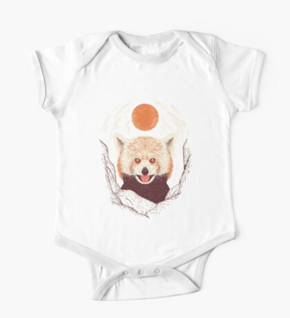 Red Panda on a Sunny Day One Piece - Short Sleeve