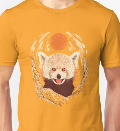 Red Panda on a Sunny Day Unisex T-Shirt