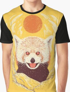 Red Panda on a Sunny Day Graphic T-Shirt