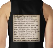Letter To Humankind Tank Top