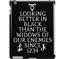 looking better in black iPad Case/Skin