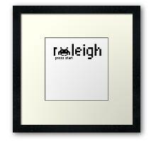 Raleigh Press Start Framed Print