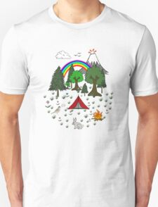 Cartoon Camping Scene T-Shirt