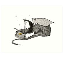 D is for Dragon Art Print
