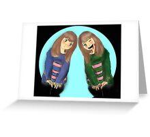 Frisk and Chara Greeting Card