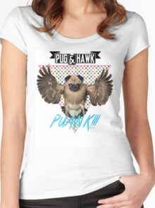 PUAWK!!! Women's Fitted Scoop T-Shirt