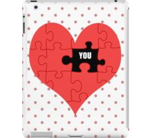 Heart Puzzle (white) iPad Case/Skin