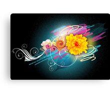 Flower Vector Canvas Print