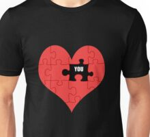 Heart Puzzle (black) Unisex T-Shirt