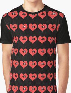 Heart Puzzle (black) Graphic T-Shirt